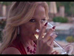 Kelly Madison Is Smoking With A Stogie