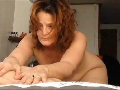 Chubby MILF pleasing her horny husband