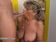 Old broad gets plowed by a horny young man