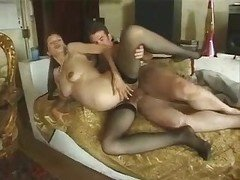 Hot Hairy Pregnant give her Ass to friend