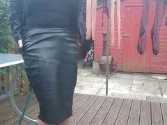 Teasing the neighbours in my nylons