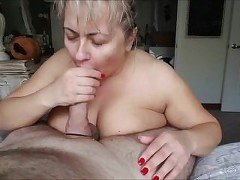 Fucking her Big BBW Mature Breasts