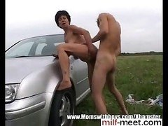 pussy on milf-meet.com - Car Troubled Granny Pays